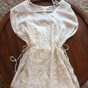 Mm couture dress white eyelet